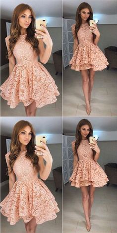 lace homecoming dress sleeveless short prom dress short cocktail dress,HS231 #dressesprom