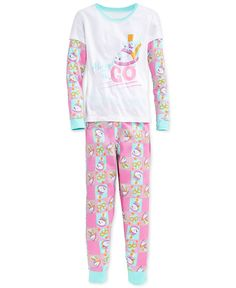 Dc Comics Girls' or Little Girls' 2-Piece Shopkins Pajamas