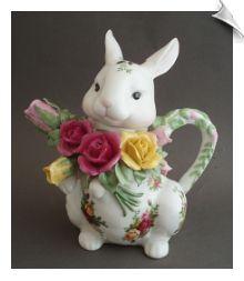 Royal Albert Old Country Roses Bunny Teapot