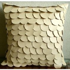 Handmade Beige Accent Pillows 16x16 Faux Leather by TheHomeCentric