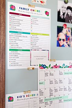 IHeart Organizing: free time management printables for chores, calendar, kids schedules