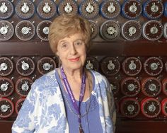Ruth Bourne one of the women that worked with the Bombe machine that decode Enigma codes.