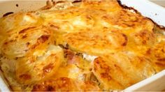 A budget family dish made with leftover chicken, cheese sauce and potato...
