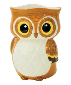 Owl Utensil Holder by Boston Warehouse #zulily