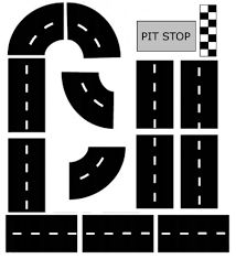 Bildresultat för printable car track