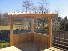 Corner Pergolas, Backyard Ideas, Decks Ideas, Bbq Grilled, Decks Design, Building A Deck, Fence Design, Back Yard, Decks Patio