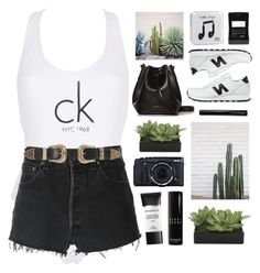 """""""Untitled #2925"""" by tacoxcat ❤ liked on Polyvore featuring Calvin Klein, RE/DONE, Lux-Art Silks, Rachael Ruddick, B-Low the Belt, Happy Plugs, New Balance, Antonym, Fujifilm and Bobbi Brown Cosmetics"""