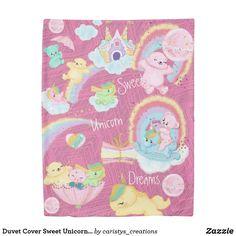 Duvet Cover Sweet Unicorn Dreams