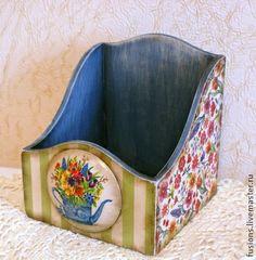 """Корзины, коробы ручной работы. Ярмарка Мастеров - ручная работа Короб """"Цветочный"""". Handmade."""