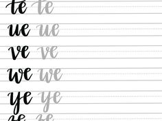 A Drive-elem indexkép-előnézete Brush Lettering Worksheet, Lettering Guide, Bullet Journal Lettering Ideas, Hand Lettering Practice, Lettering Styles, Bullet Journal Ideas Pages, Lettering Design, Calligraphy Worksheet, Hand Lettering For Beginners