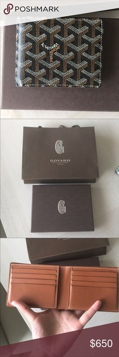 Authentic Goyard Wallet in Black This beautiful Goyard Wallet was purchased in Paris and is in like new condition. You can see the detail of Goyard wallets since each dot on the fabric is hand painted. Comes with box, ribbon, yellow dust cloth, and bag. The perfect gift! Goyard Bags Wallets