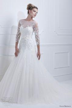 Os gustan las mangas de este vestido de #novia ? / Do you like the sleeves on this #bridal dress?