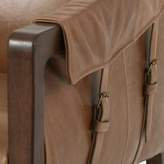 Brown Leather Chairs, Leather Club Chairs, Leather Buckle, Tan Leather, Pop Up Shops, Mid Century Design, Taupe, Warm, Lush