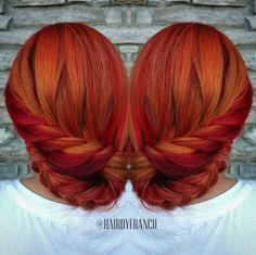 Fox Hair Dye, Dye My Hair, New Hair, Unicorn Hair Color, Pulp Riot Hair Color, Sunset Hair, Fire Hair, Arctic Fox Hair Color, Pelo Afro
