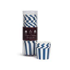 Θήκες για cupcakes ριγέ μπλε σκούρο - Paper Eskimo