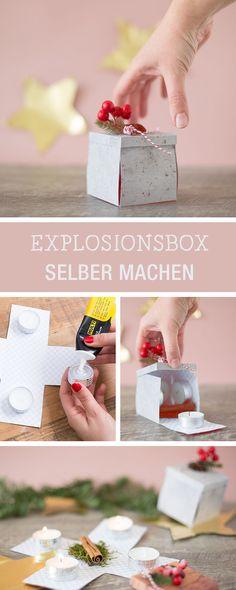 DIY-Inspiration für eine kleine Überraschungsbox, witziges Weihnachtsgeschenk / funny gift idea for christmas via DaWanda.com