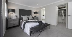 BEDROOM - Brooklyn with Breeze Facade on display at Warwick Farm Custom Home Designs, Custom Homes, Home Bedroom, Bedrooms, New Home Builders, Investment Property, Breeze, Facade, Brooklyn