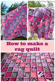 Enjoy lots of snuggly-wuggly goodness! Learn how to make a rag quilt. Includes a video and step by step instructions on how to make a rag quilt. Baby Rag Quilts, Flannel Rag Quilts, Quilting Tips, Quilting Projects, Sewing Projects, Projects To Try, Quilt Tutorials, Sewing Tutorials, Sewing Crafts