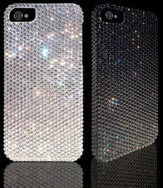 iPhone 5 Swarovski Cover Case, handmade with over 1300 new Xilion cut Swarovski crystals. The tag price is 242.00 for white & 258.00 for Jet Hematite black.
