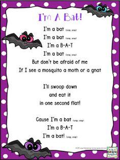 Bat poem! I'm A Bat poem is great for bat week or bat units! Kindergarten poetry. Kindergarten fluency!