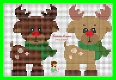 Xmas Cross Stitch, Cross Stitch Cards, Cross Stitch Kits, Cross Stitching, Cross Stitch Embroidery, Christmas Knitting Patterns, Christmas Embroidery, Christmas Animals, Christmas Cross