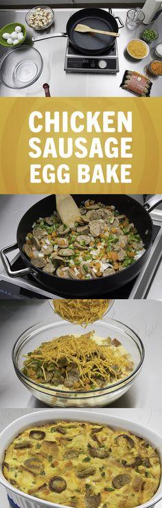 Chicken Sausage Egg Bake