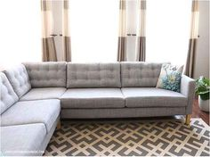 Add tufting to your sofa cushions. | 37 Cheap And Easy Ways To Make Your Ikea Stuff Look Expensive