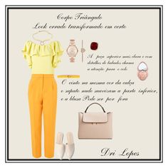 """""""Look errado transformado em certo corpo triângulo"""" by dri-lopes ❤ liked on Polyvore featuring P.A.R.O.S.H., MANGO, Dsquared2, Topshop, Anne Sisteron, Alexis Bittar, Michael Kors, Too Faced Cosmetics and DriLopesPersonal"""