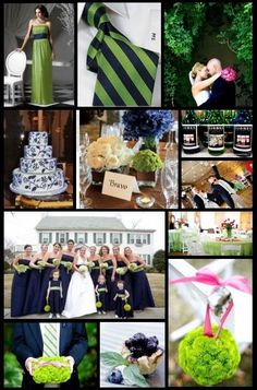 Inspiration 38:  Blueberry and Lime with a Sprinkling of Water(melon) | colors: navy, lime and hot pink wedding
