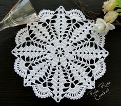 Ideas For Crochet Patrones Ganchillo - Diy Crafts - DIY & Crafts Crochet Pillow Patterns Free, Crochet Borders, Knitting Patterns Free, Free Pattern, Crochet Mandala, Filet Crochet, Crochet Motif, Blanket Crochet, Crochet Designs