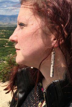 Colorado Aspen Tree Wood Burned Earrings by FunkyLollipop on Etsy