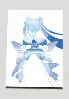 $5 - Pretty Guardian Sailor Moon Princess Serenity Blue by SClarkeArt