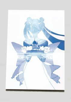$5 - Pretty Guardian Sailor Moon Princess Serenity Blue by SClarkeArt