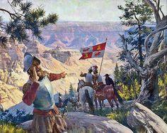 García López de Cárdenas, el primer europeo en divisar el Cañón del Colorado.