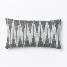 Hand-Loomed Diamond Pillow Cover - Slate | West Elm