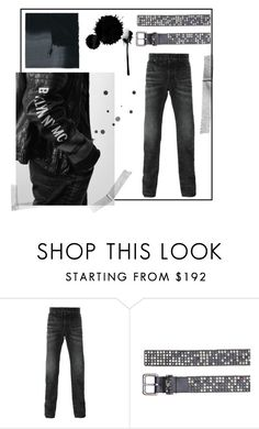 """""""Black on Black"""" by htc-los-angeles on Polyvore featuring Hollywood Trading Company, men's fashion, menswear, losangeles, htclosangeles e hollywoodtradingcompany"""