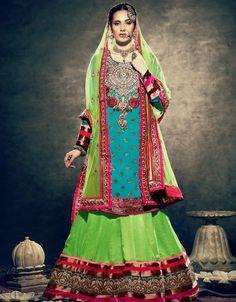 Z Fashion Trend: DESIGNER COLOURFUL BRIDAL DRESS