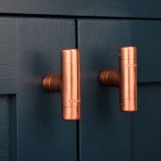 100% Pure Copper T Knob Here you have a stylish pure copper t knob. Works great on cabinet doors, wardrobe drawers, cupboards, kitchen units and just about anything that you can open. Are you looking for something original to make your home or workplace that little bit more