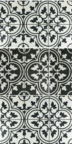 2018 flooring trends - farmhouse style black and white tiles #farmhouse #tiles #2018trends #stenciled #flooringtrends #flooring