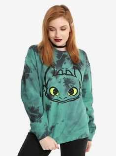 How To Train Your Dragon Toothless Tie Dye Girls Sweatshirt, MULTI