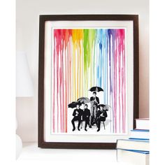 Pop Style Rainbow The Beatles cover inspired Poster Different sizes. ($14) ❤ liked on Polyvore featuring home, home decor, wall art, motivational posters, beatles poster, inspirational wall art, inspirational posters and rock posters