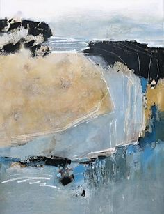 """Renate Migas, """"blue lagoon"""" Mit einem Klick auf """"Als Kunstkarte versenden"""" versenden Sie kostenlos dieses Werk Ihren Freunden und Bekannten."""