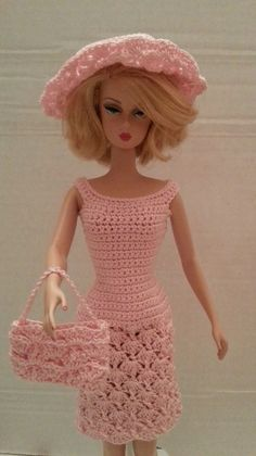 OOAK Crochet Dress for Silkstone barbies: