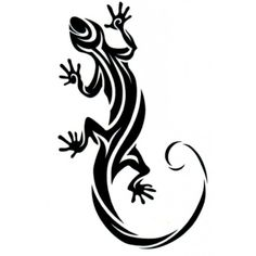 tribal tattoos designs of a lizard - Google Search