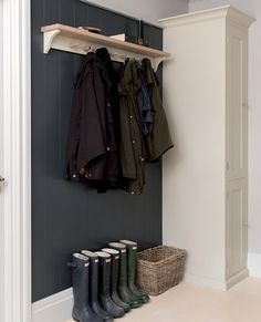 Suffolk coat rack - use of darker colour on back wall