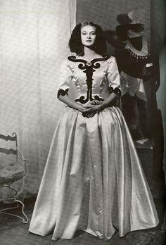 "Balenciaga ""Infanta"" evening dress; 1939. Photograph by George Hoyningen-Huene. R.J. Horst. Courtesy Staley/Wise Gallery, NYC."