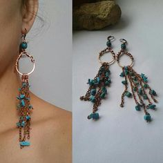 Hey, I found this really awesome Etsy listing at https://www.etsy.com/listing/237285363/copper-wire-earringscopper-shoulder