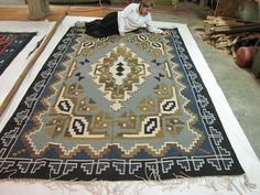 handwoven Zapotec Indian Rug Moss collection- Texas Teotitlan del Valle- Oax. Mex,