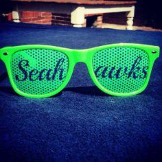 Seattle Seahawks Green Sunglasses 12th man Goes by SeattleFashion, $9.95