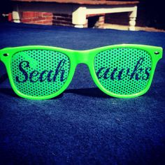 Seattle Seahawks Green Sunglasses 12th man Goes by SeattleFashion